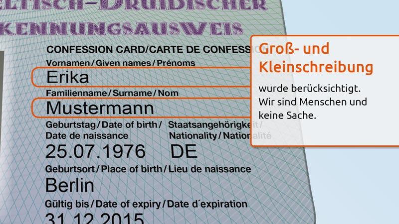 Keltisch-Druidischer Ausweis Features 4